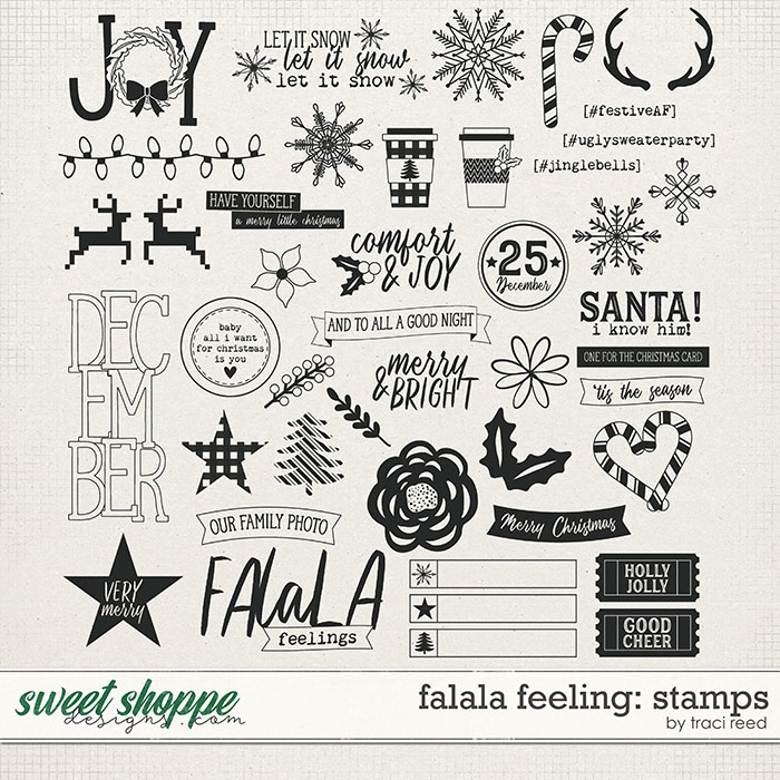 FaLaLa Feeling Digital Stamps by Traci Reed