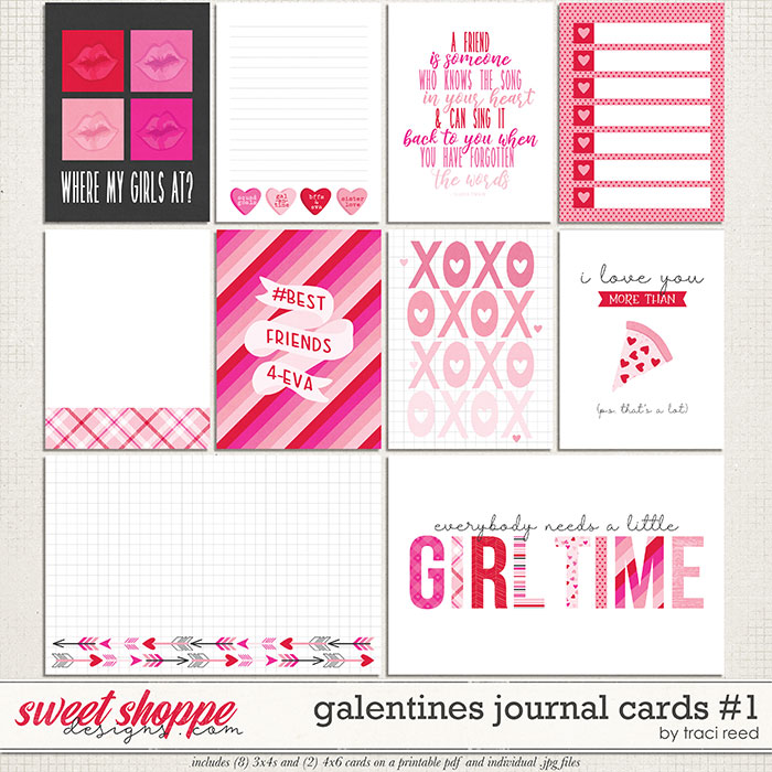 Galentines Journal Cards #1 by Traci Reed