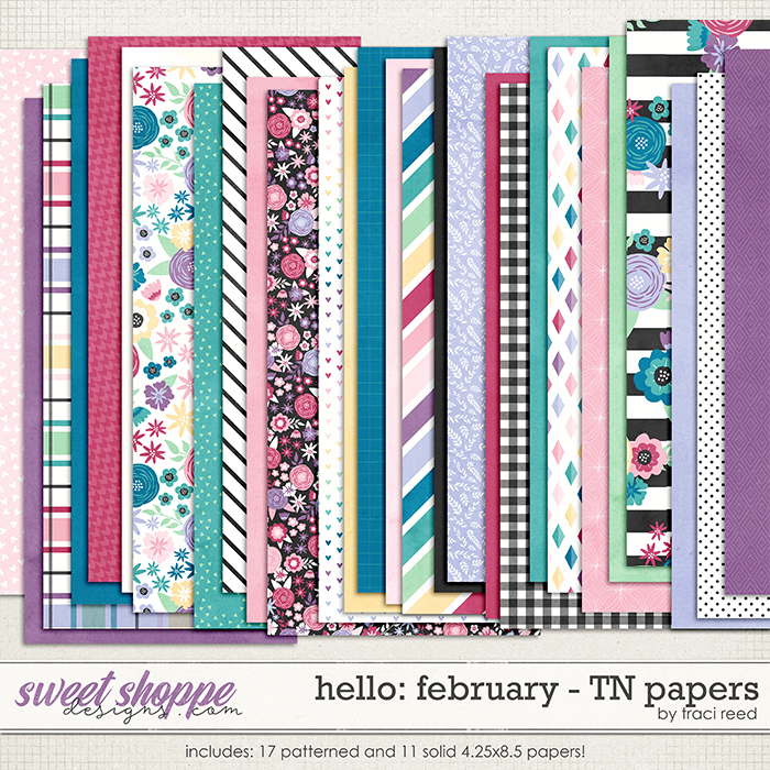 Hello: February TN Papers by Traci Reed