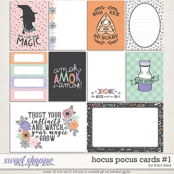Hocus Pocus Journal Cards #1 by Traci Reed