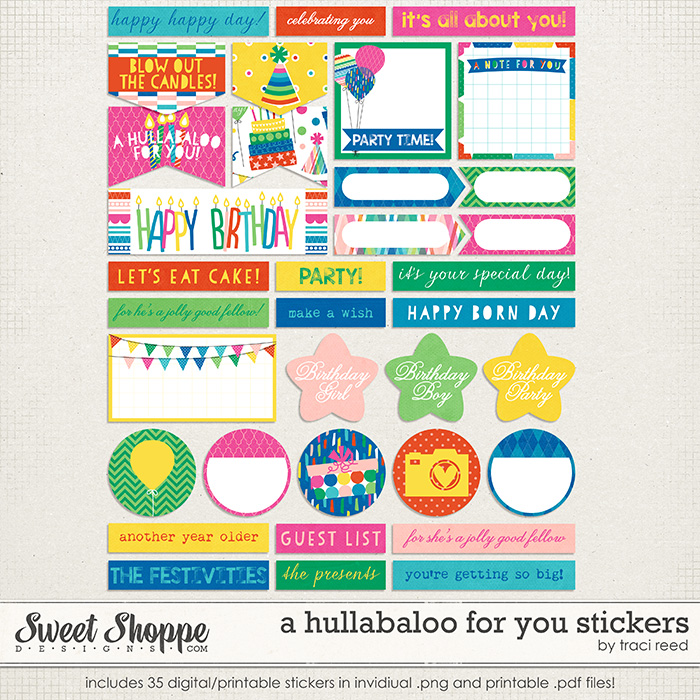 A Hullabaloo For You Stickers by Traci Reed