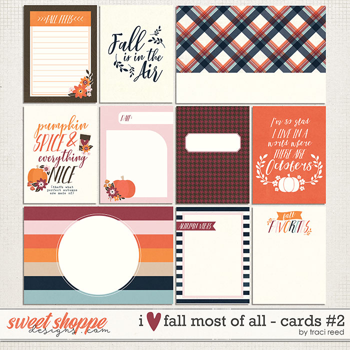I Love Fall Most of All Journal Cards #2 by Traci Reed
