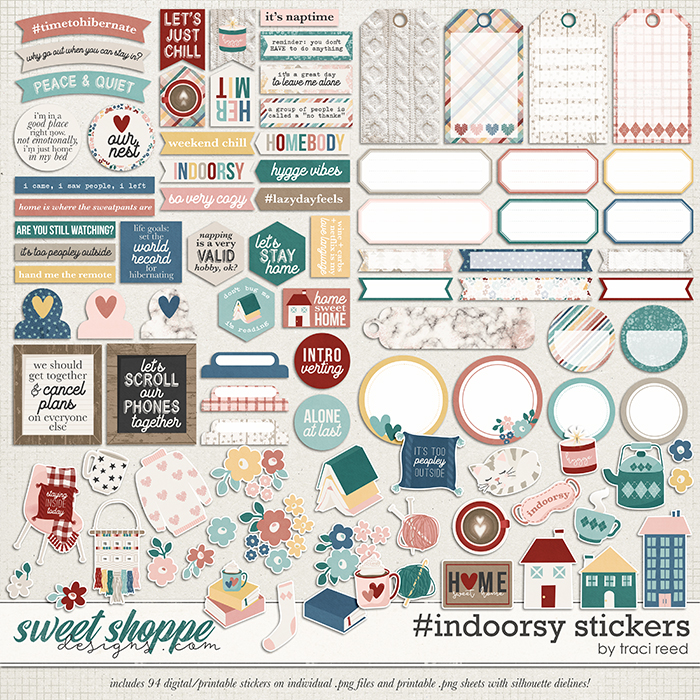 #indoorsy Stickers by Traci Reed