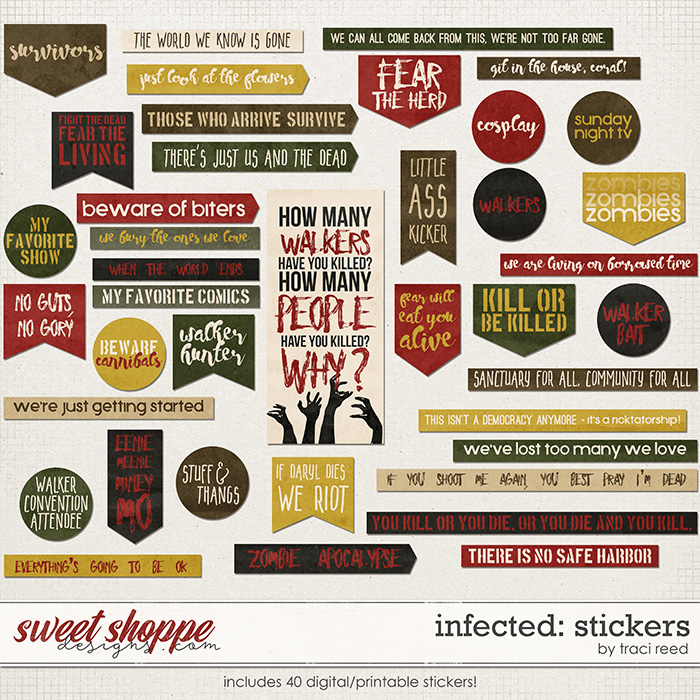 Infected: Stickers by Traci Reed