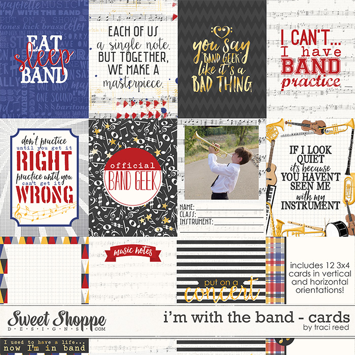 I'm With The Band Cards by Traci Reed