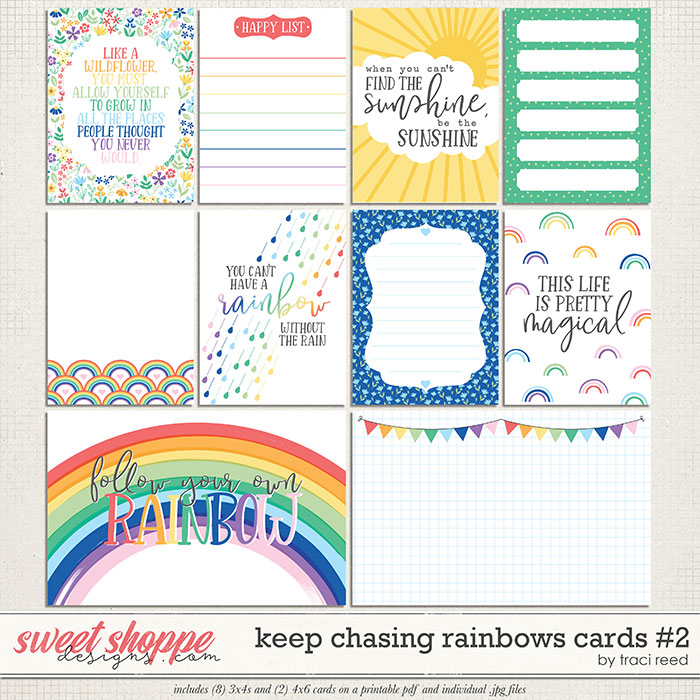 Keep Chasing Rainbows Journal Cards #2 by Traci Reed