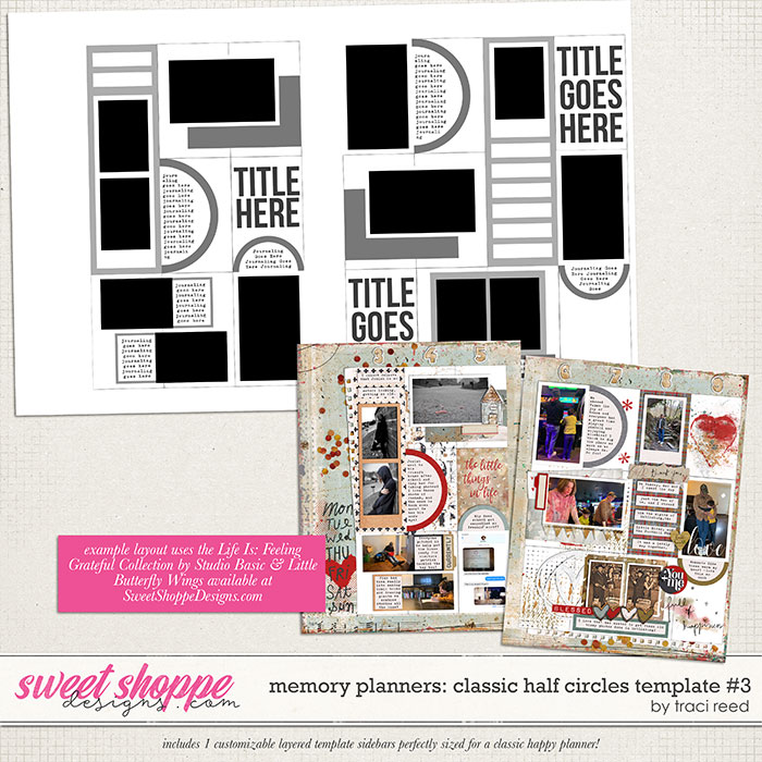 Memory Planners - Classic - Half Circles #3 by Traci Reed