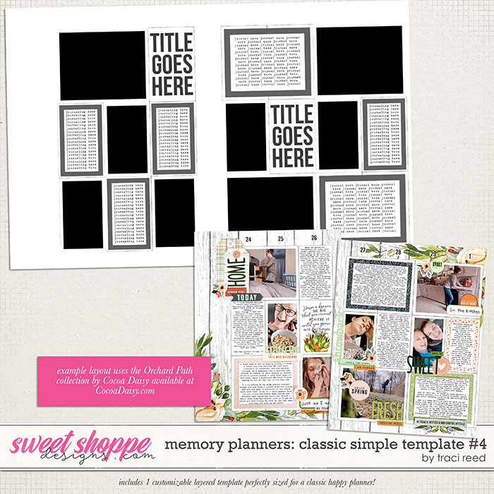 Memory Planners - Classic - Simple #4 by Traci Reed