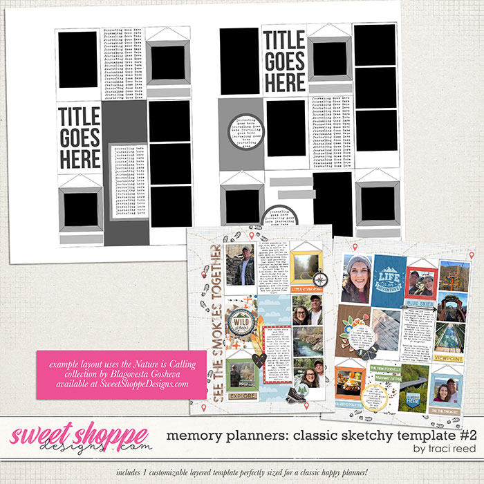 Memory Planners - Classic - Sketchy #2 by Traci Reed