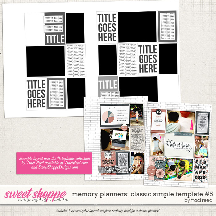 Memory Planners - Classic - Simple #5 by Traci Reed