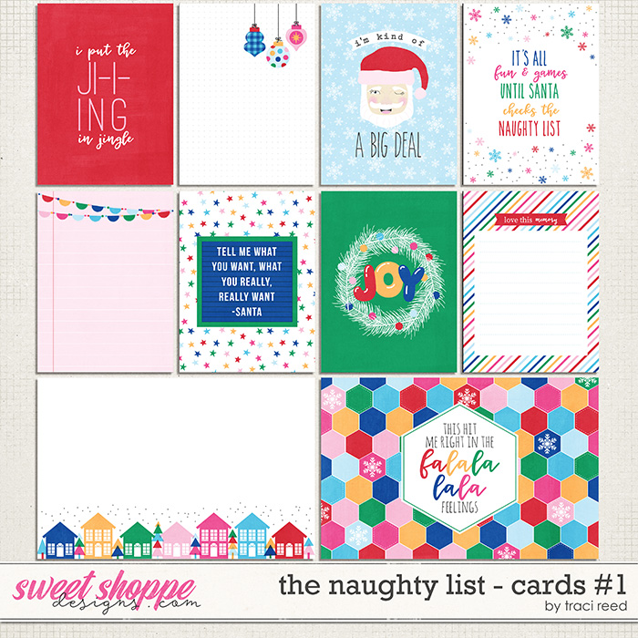 The Naughty List Journal Cards #1 by Traci Reed