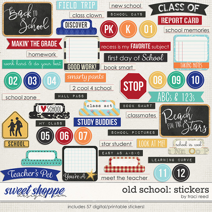 Old School: Stickers by Traci Reed