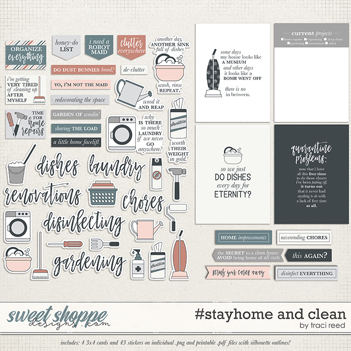 #stayhome and Clean by Traci Reed