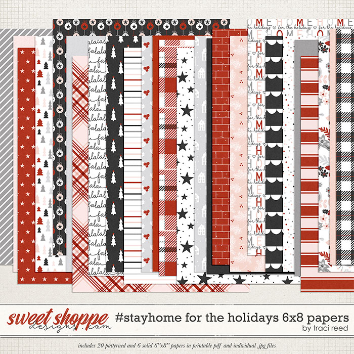 #StayHome for the Holidays: 6x8 Papers by Traci Reed