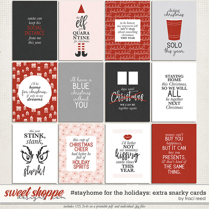 #StayHome for the Holidays: Journal Cards #3 - Extra Snarky by Traci Reed
