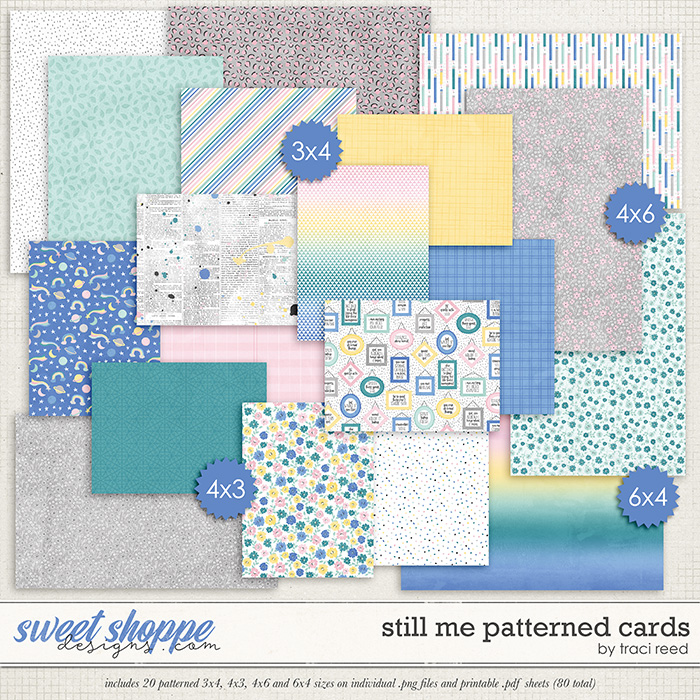 Still Me Patterned Cards by Traci Reed