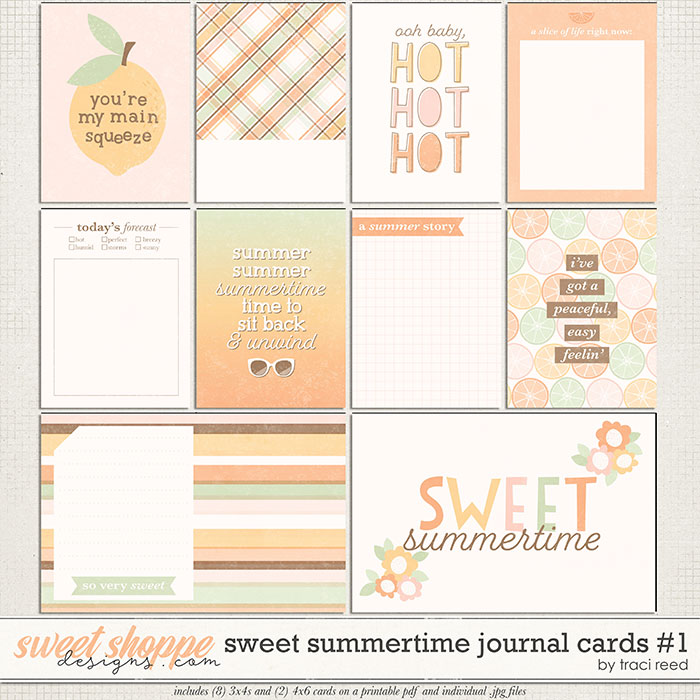 Sweet Summertime Cards #1 by Traci Reed
