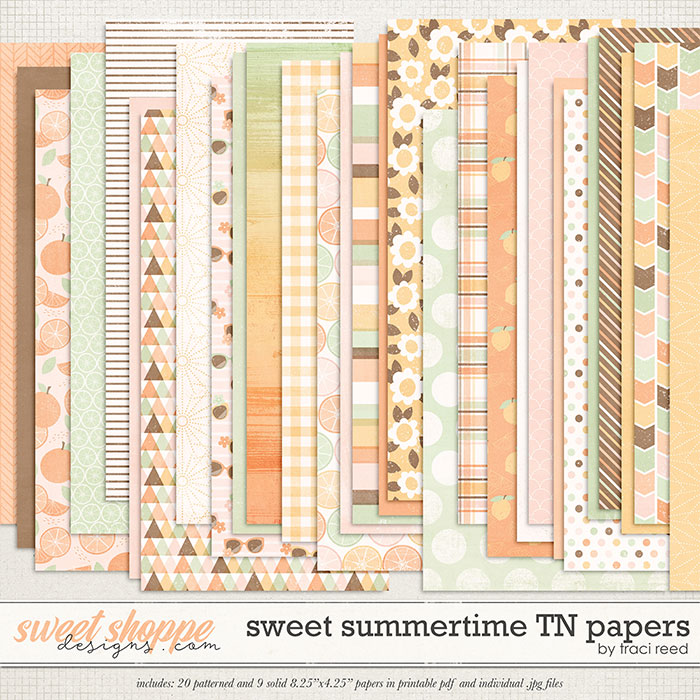 Sweet Summertime TN Papers by Traci Reed