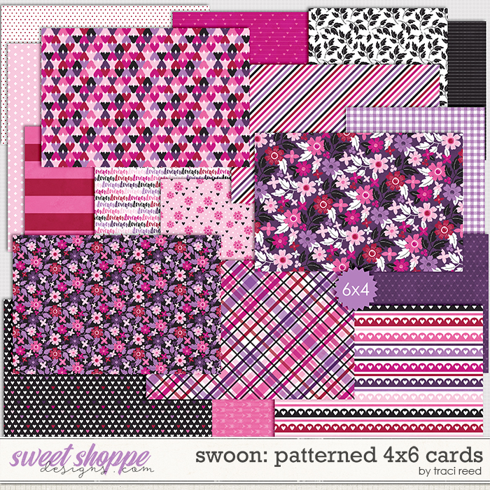 Swoon Patterned 4x6s  by Traci Reed