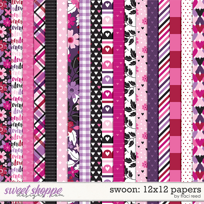 Swoon 12x12 Papers by Traci Reed