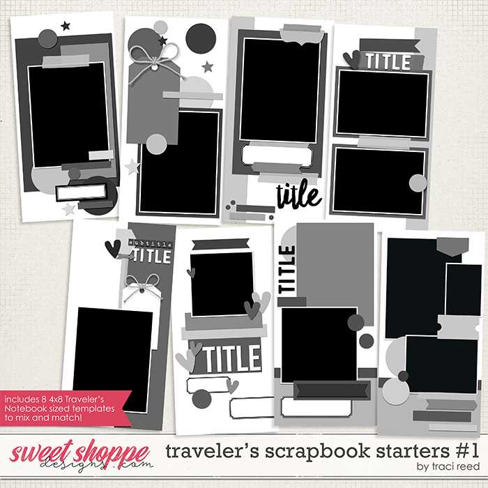 Traveler's Scrapbook Starters #1 by Traci Reed