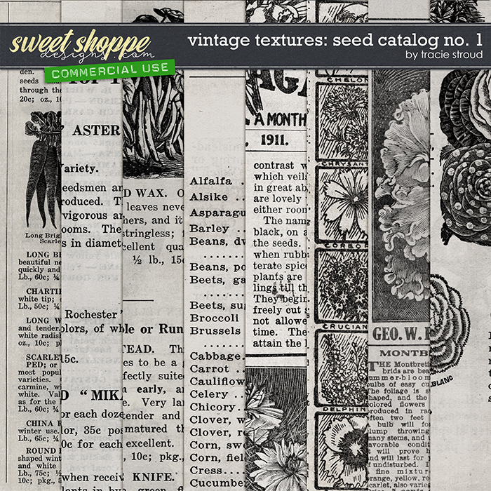 CU Vintage Textures: Seed Catalog no. 1 by Tracie Stroud