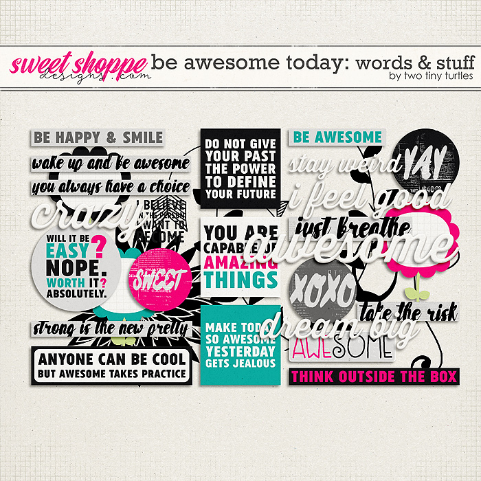 Be Awesome Today: Words & Stuff by Two Tiny Turtles