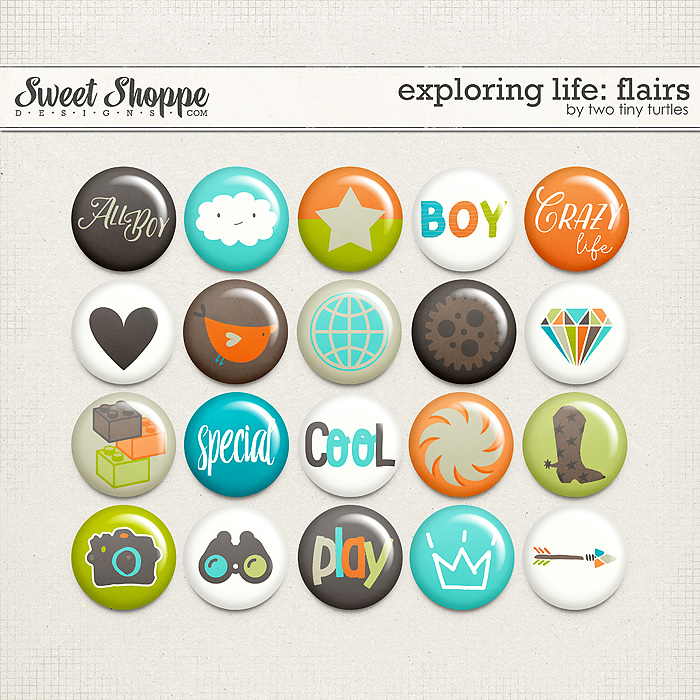 Exploring Life: Flairs by Two Tiny Turtles