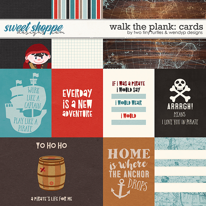 Walk The Plank: Cards by Two Tiny Turtles & WendyP Designs
