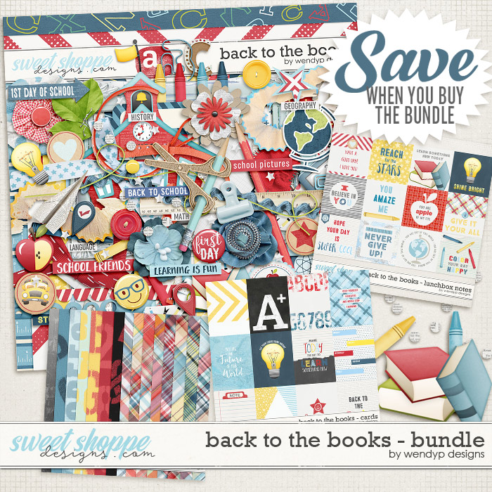 Back to the books - bundle + FWP by WendyP Designs