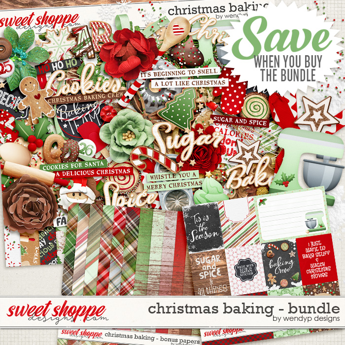 Christmas Baking - Bundle by WendyP Designs