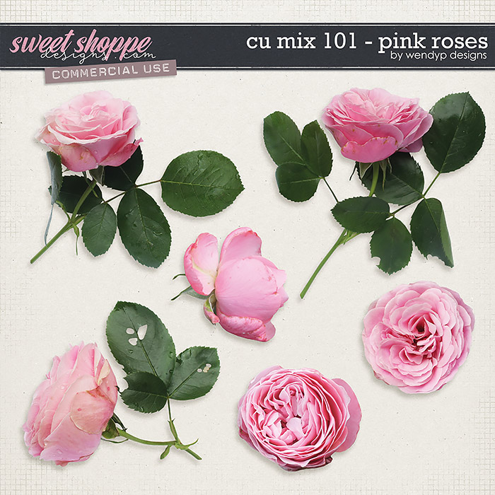 CU Mix 101 - Pink Roses by WendyP Designs