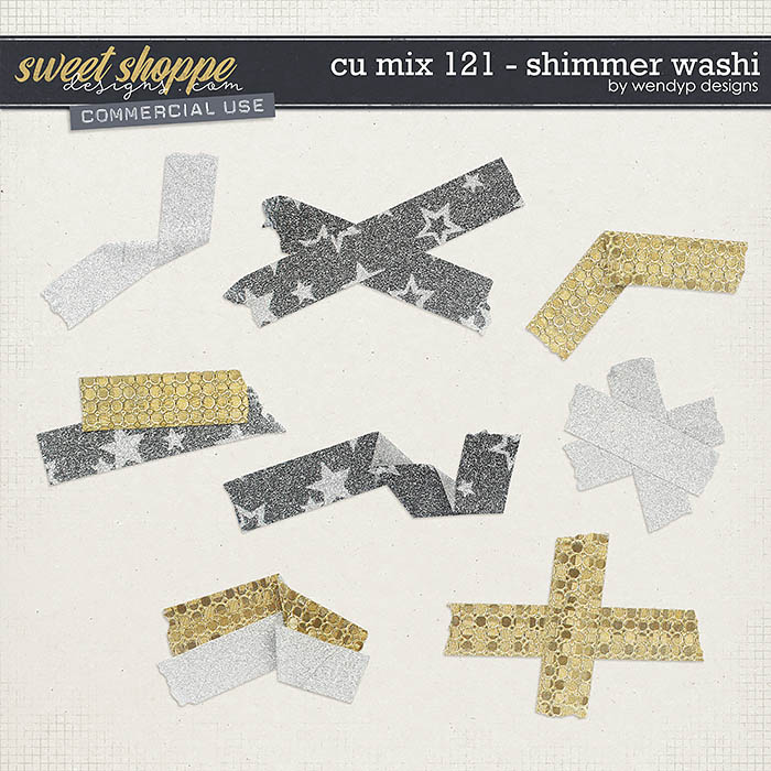CU Mix 121 - Shimmer Washitape by WendyP Designs