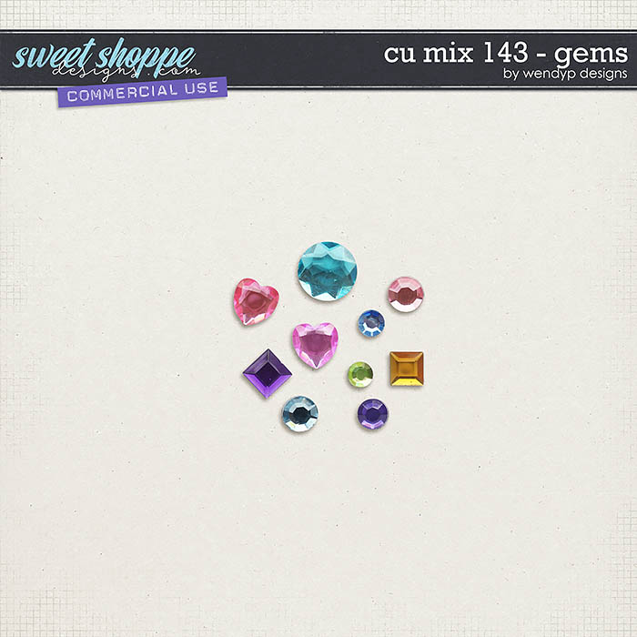 CU Mix 143 - gems by WendyP Designs