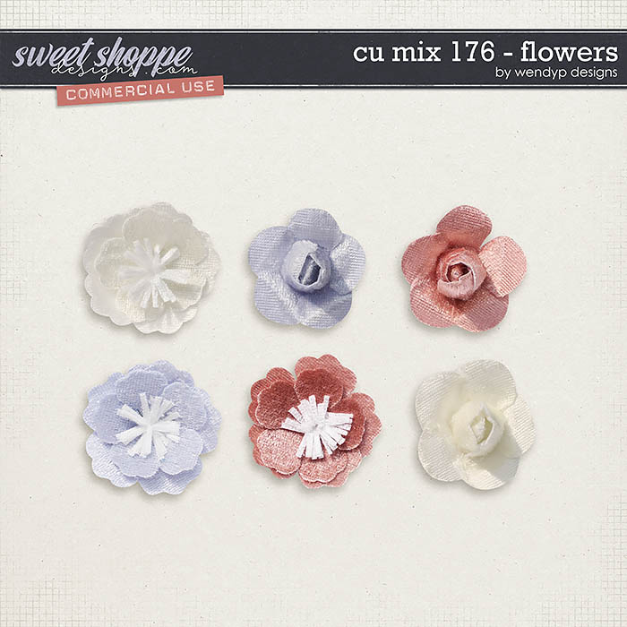 CU Mix 176 - flowers by WendyP Designs