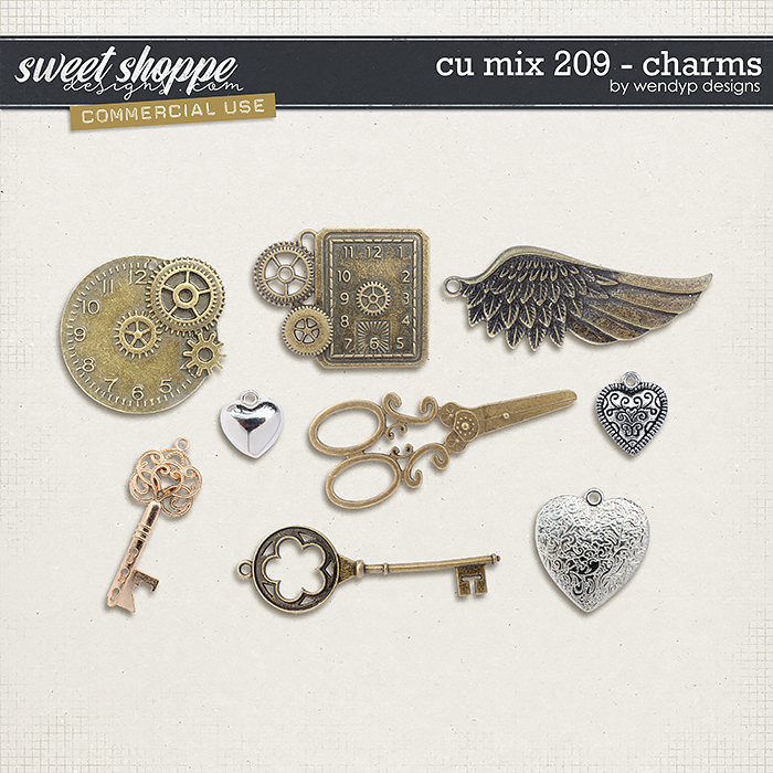 CU Mix 209 - charms by WendyP Designs