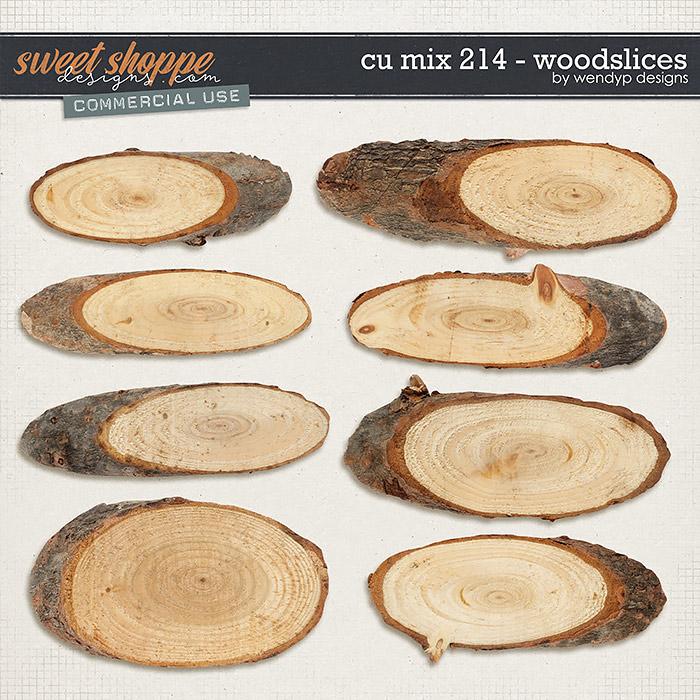 CU Mix 214 - wood slices by WendyP Designs