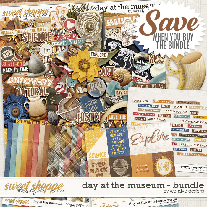 Day at the museum - bundle by WendyP Designs