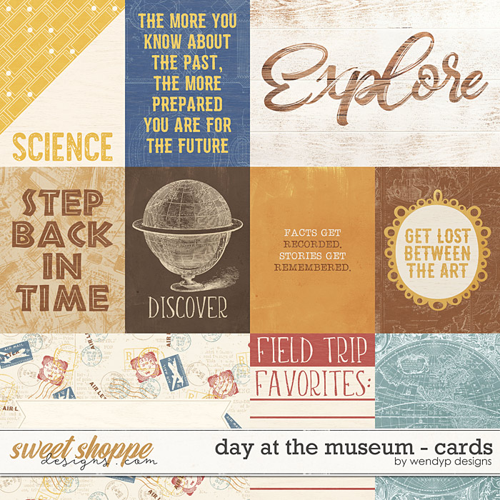 Day at the museum - cards by WendyP Designs