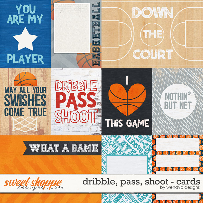 Dribble, pass, shoot - cards by WendyP Designs