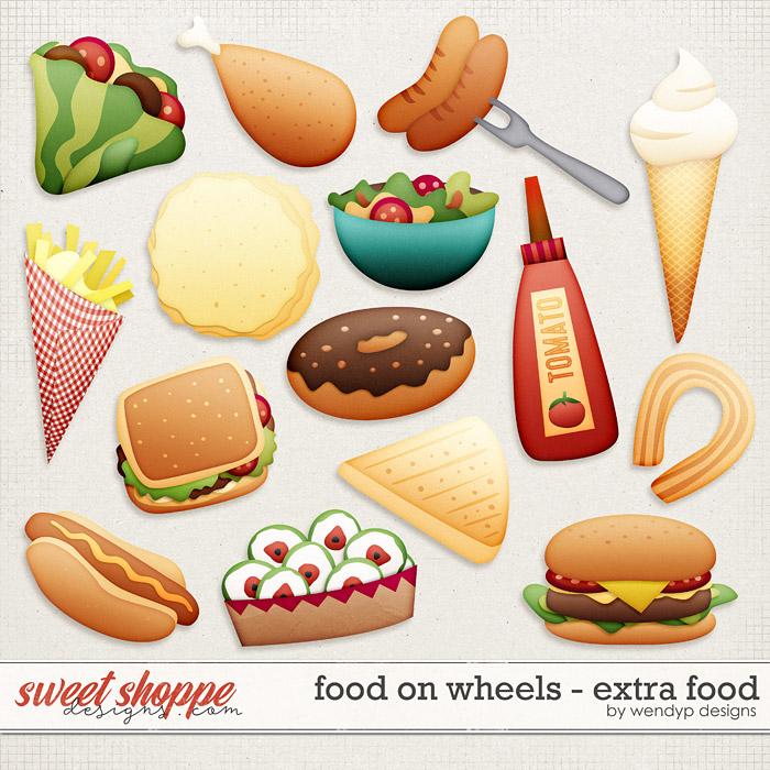 Food on wheels - extra food by WendyP Designs