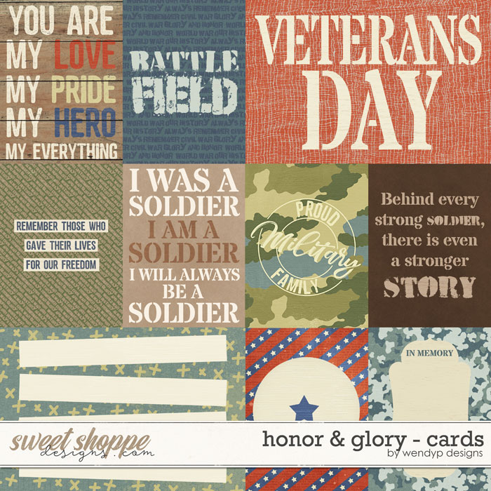 Glory & Honor - cards by WendyP Designs