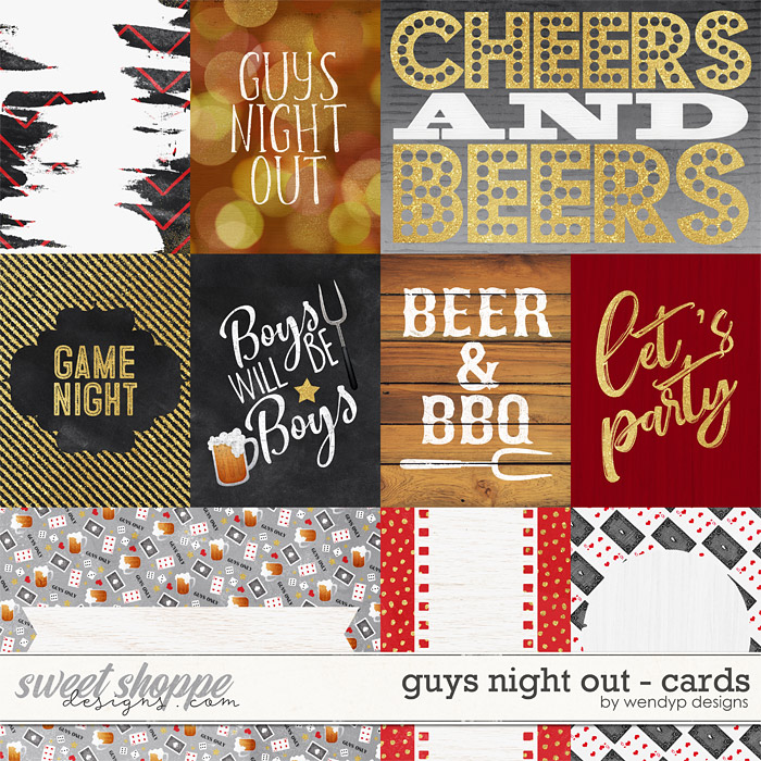 Guys night out - cards by WendyP Designs