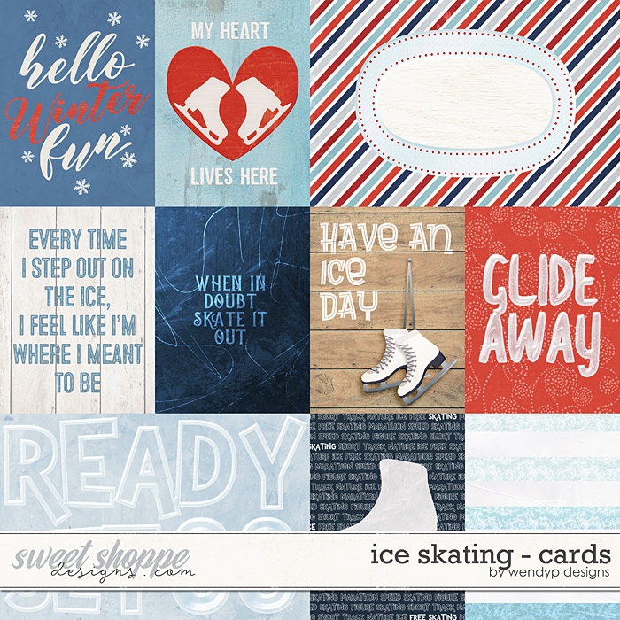 Ice skating - cards by WendyP Designs