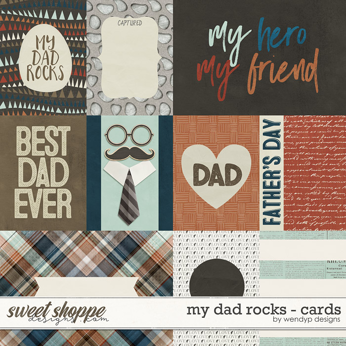 My dad rocks - Cards by WendyP Designs