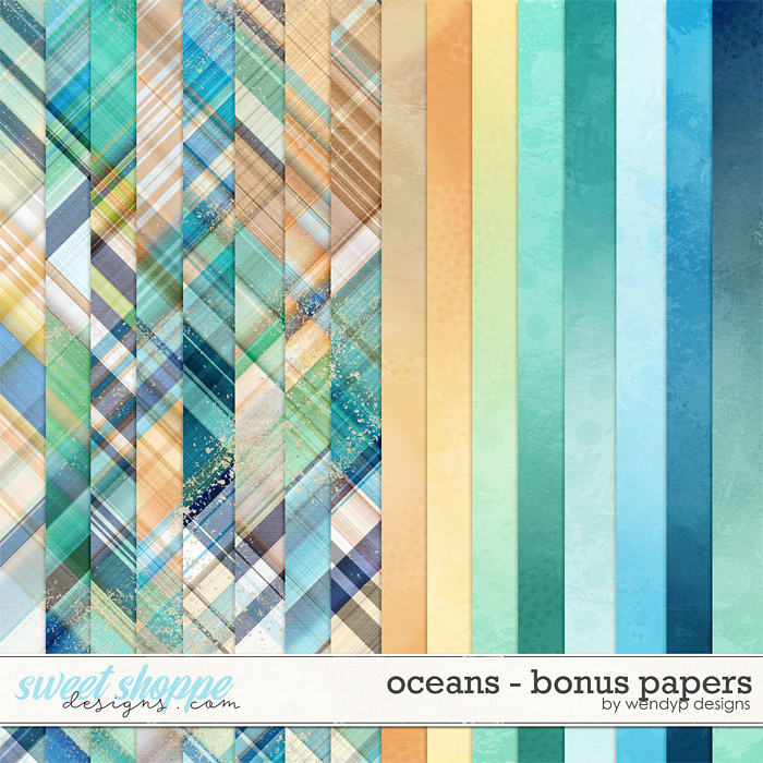 Oceans - bonus papers by WendyP Designs
