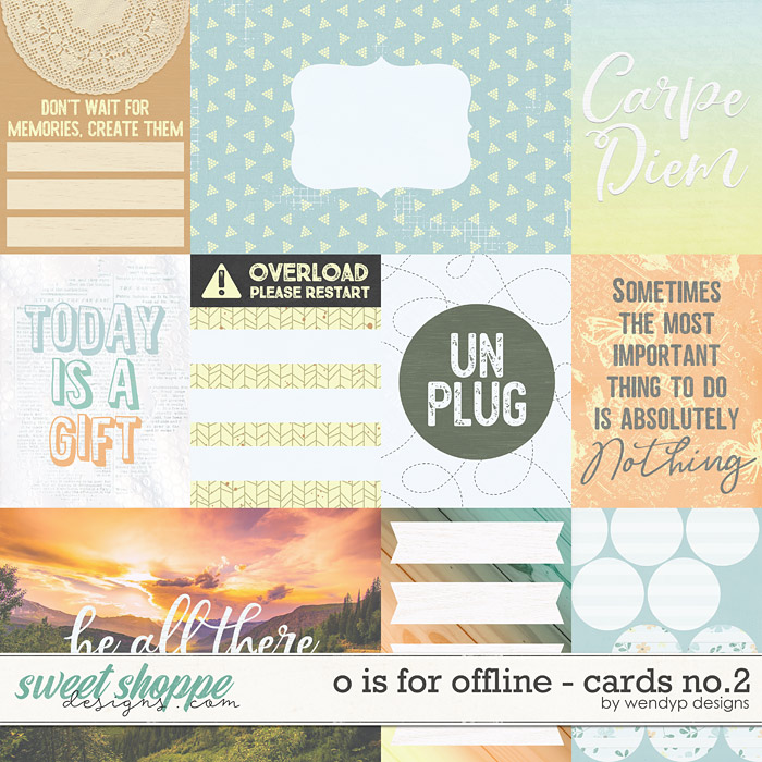 O is for Offline - cards no.2 by WendyP Designs