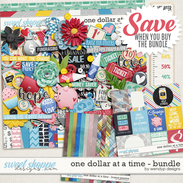One dollar at a time - bundle by WendyP Designs