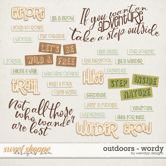 Outdoors - wordy by WendyP Designs