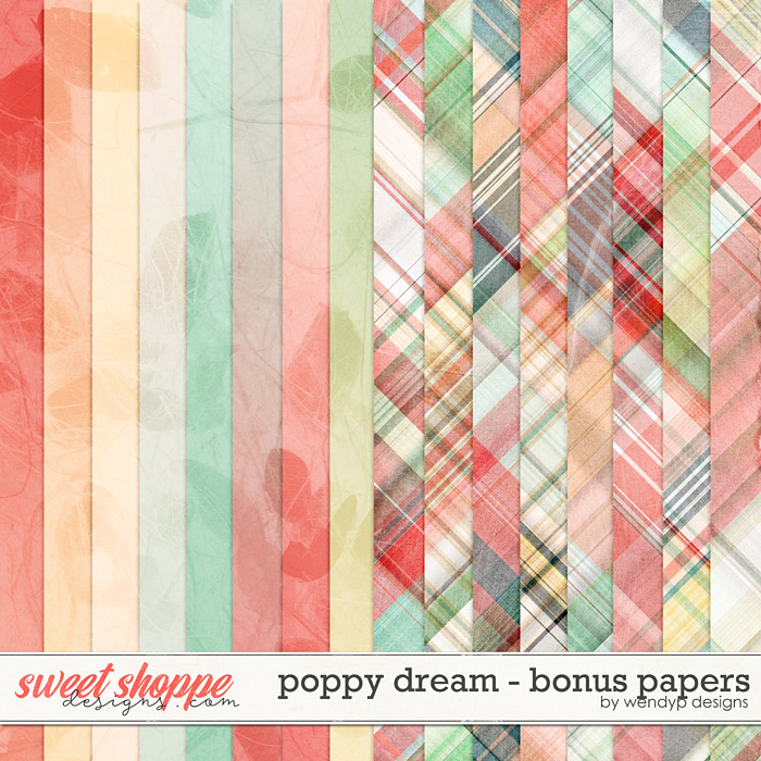 Poppy dream - bonus papers by WendyP Designs